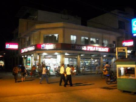 Night Time View Of Rose Pharmacy Calbayog Texan In The