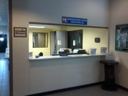 Customer Service desk at Andersen AFB Passenger Terminal